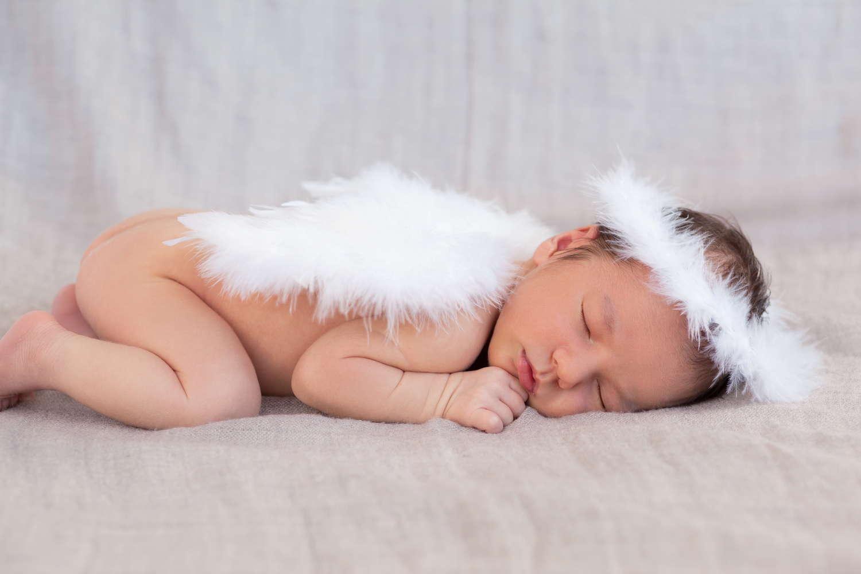 baby angel sleeping